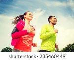 fitness  sport  friendship and... | Shutterstock . vector #235460449