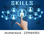 skills concept with hand... | Shutterstock . vector #235464301