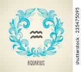 zodiac sign aquarius  the water ... | Shutterstock .eps vector #235475095