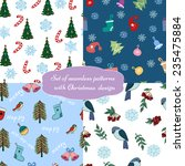 set of christmas design... | Shutterstock .eps vector #235475884
