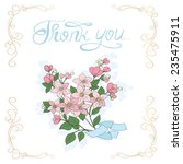decorative floral greeting card. | Shutterstock . vector #235475911