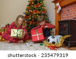 two children  a boy and a girl  ... | Shutterstock . vector #235479319