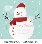 snow man card | Shutterstock .eps vector #235483351