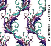 seamless floral colorful doodle ... | Shutterstock .eps vector #235485691