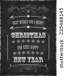 a poster with christmas wishes. ... | Shutterstock .eps vector #235488145