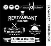 label set for restaurant menu... | Shutterstock .eps vector #235499764