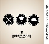 label set for restaurant menu... | Shutterstock .eps vector #235499785