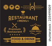 label set for restaurant menu... | Shutterstock .eps vector #235499809