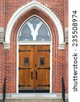 Wooden Church Doors With Ornat...