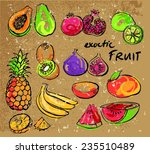 selection tropical fruit vector ... | Shutterstock .eps vector #235510489