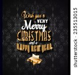 2015 new year and happy... | Shutterstock . vector #235513015