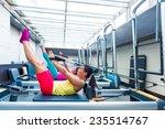 pilates reformer workout... | Shutterstock . vector #235514767