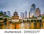 guiyang  china city skyline on...   Shutterstock . vector #235522177