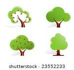 green trees | Shutterstock .eps vector #23552233