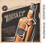 whiskey vintage poster design... | Shutterstock .eps vector #235537651