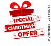 special christmas offer banner  ... | Shutterstock . vector #235540759