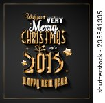 2015 new year and happy... | Shutterstock . vector #235541335