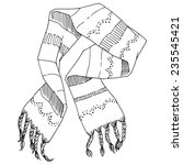 scarf  hand drawn in sketch... | Shutterstock .eps vector #235545421