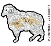 new year of the ram  isolated... | Shutterstock .eps vector #235550845