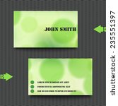 business card template with... | Shutterstock .eps vector #235551397