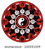 chinese zodiac wheel with signs