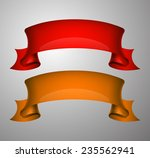 origami paper infographic... | Shutterstock .eps vector #235562941