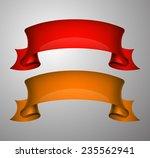 origami paper infographic... | Shutterstock .eps vector #235562941