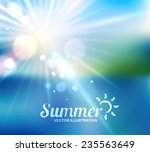 summer holidays   beautiful... | Shutterstock .eps vector #235563649