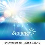 summer holidays   beautiful... | Shutterstock .eps vector #235563649