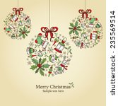 christmas card with christmas... | Shutterstock .eps vector #235569514