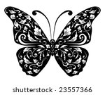 butterfly silhouette for you... | Shutterstock .eps vector #23557366