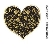 floral heart shape for your... | Shutterstock .eps vector #23557390