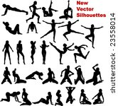 new vector silhouettes | Shutterstock .eps vector #23558014