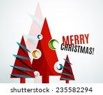 christmas tree geometric design ... | Shutterstock .eps vector #235582294