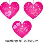set of three valentine's day... | Shutterstock .eps vector #23559229