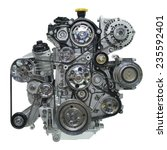 Small photo of Car engine. Concept of modern car engine
