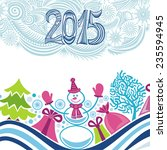 happy new year card with... | Shutterstock .eps vector #235594945
