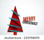 christmas tree geometric design ... | Shutterstock .eps vector #235598095