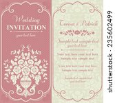 antique baroque wedding... | Shutterstock .eps vector #235602499