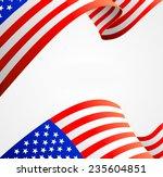 american flag border ... | Shutterstock . vector #235604851