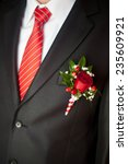 groom's suit close up with a... | Shutterstock . vector #235609921