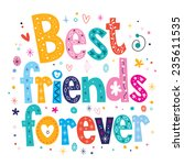 best friends forever | Shutterstock .eps vector #235611535