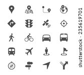 navigation flat icons | Shutterstock .eps vector #235619701