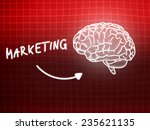 marketing brain background... | Shutterstock . vector #235621135