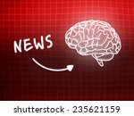 news brain background knowledge ... | Shutterstock . vector #235621159