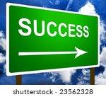 Green success sign - stock photo