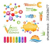 vitamins emblems  icons and... | Shutterstock .eps vector #235628677