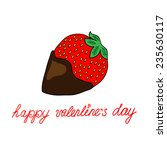 love card with strawberry   Shutterstock .eps vector #235630117