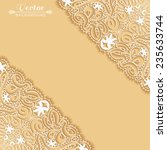 wedding invitation card with... | Shutterstock .eps vector #235633744