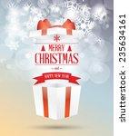 merry christmas open gift box... | Shutterstock .eps vector #235634161